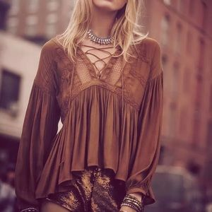 Free People Don't Let Go Peasant Blouse